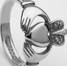 Ladies Claddagh Ring Heavy CLAD4