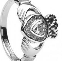 Ladies Diamond Claddagh Heart Ring CLAD30DD