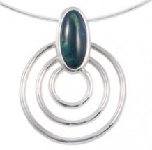 Triple Ring Heather Pendant HP55