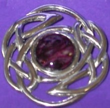 Heather Gem Brooch