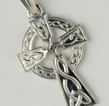 Traditional Celtic Cross Small Pendant C450 Silver