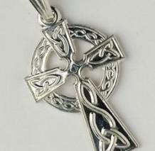 Traditional Celtic Cross Small Pendant C450 Silver