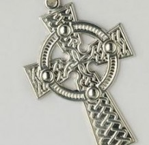 Traditional Celtic Cross Large Pendant C700 Silver