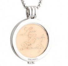 Rose Gold Claddagh Coin Pendant S45795