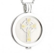 Celtic Cross Coin Pendant S45790