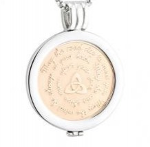 Rose Gold May the Road Rise Coin Pendant S45798