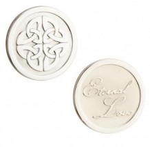 Rhodium Celtic Knot Coin S80387