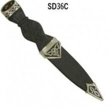 Celtic Pewter Sgian Dubh with Stone SD36C