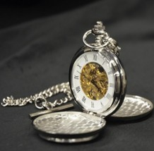 Celtic Cross Mechanical Pocket Watch