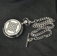Celtic Knot Mechanical Pocket Watch