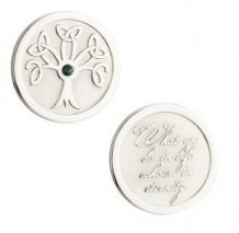 Rhodium Tree of Life Coin S80391