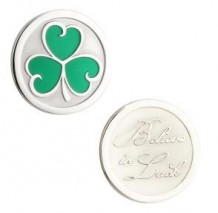 Additional Coins for Irish Coin Collection Pendants four star ratingfour star ratingfour star ratingfour star ratingfour star rating	Add Reviews  Special Order Additional Coins for Irish Coin Collection Pendants Coins are interchangeable between the various pendants in the Irish Coin Collection. Available Coins: Rhodium Claddagh Coin S80385 Rhodium Trinity Coin S80386 Rhodium Celtic Knot Coin S80387 Rhodium May the Road Rise Coin S80388 Two Tone Celtic Cross Coin S80389 Two Tone Celtic Knot Coin S80390 Rhodium Tree of Life Coin S80391 Rhodium Crystal Shamrock Coin S80392 Rhodium Enamel Shamrock Coin S80393