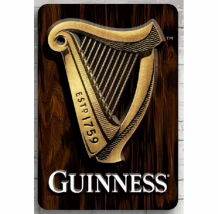 Guinness 3D Harp Wall Art WDS170005