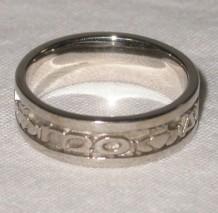 Mo Anam Cara Silver Ring Sz 8