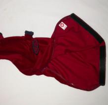 Burgundy Bag Cover with Navy Braid Trim