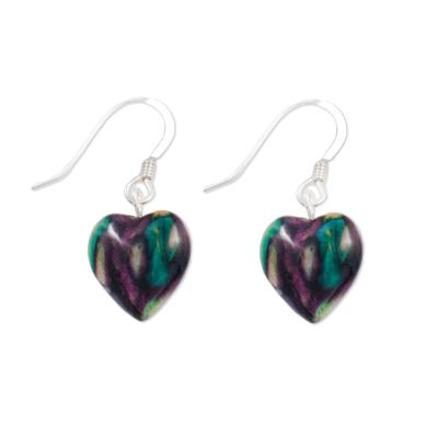 Heart Heather Drop Earrings SE4