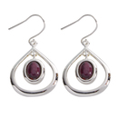Silver Plated Tearlach Heathergem Earrings HE41