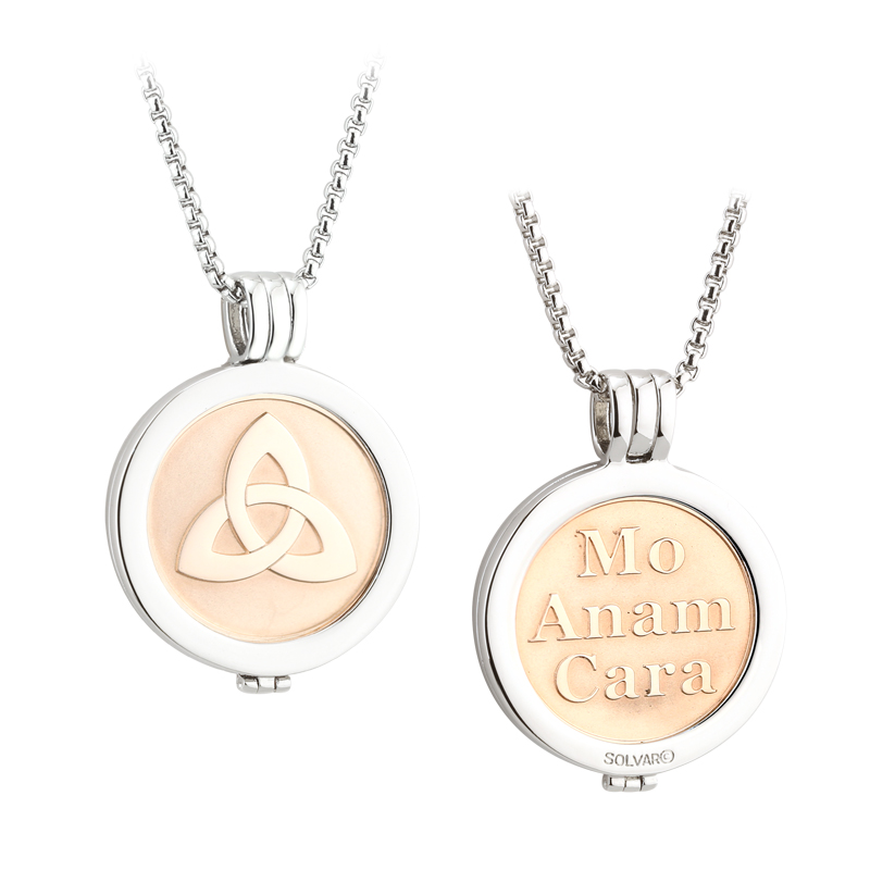 Rose Gold Trinity Coin Pendant S45796