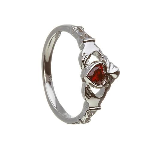 Birthstone Claddagh Ring