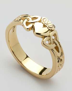 Ladies Claddagh Heart Trinity Knot Shank CLAD36