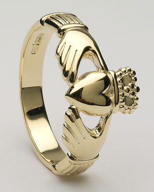 Gents Claddagh Ring Large CLAD6H