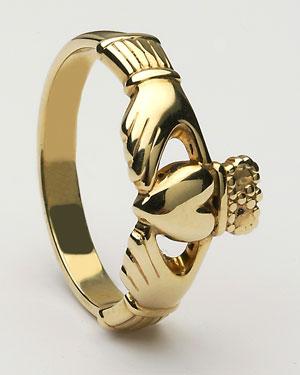 Ladies Claddagh Ring Large CLAD6