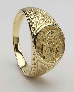 Celtic Pin Silver Plated Heathergem Brooch HB74