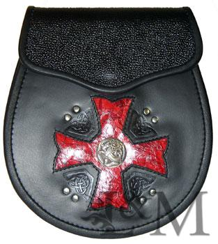 Maltese Cross Sporran with Inlay