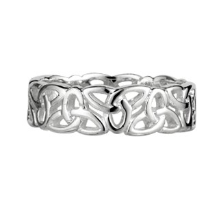 Silver Trinity Knot Ring S2444