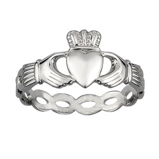 Claddagh Woven Ring S2550