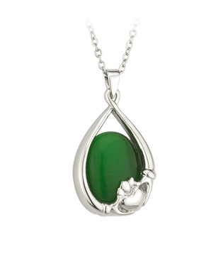 Claddagh Pendant with Colored Stone S45119