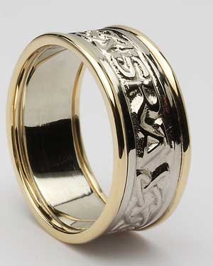 Ladies Lovers Knot Band with Trim WED296