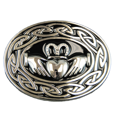 Heathergems Pewter Round Celtic Brooch HB57