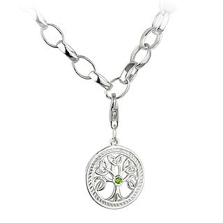 Silver Tree of Life Charm Bracelet S5599