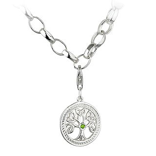 Silver Tree of Life Charm Bracelet S5599