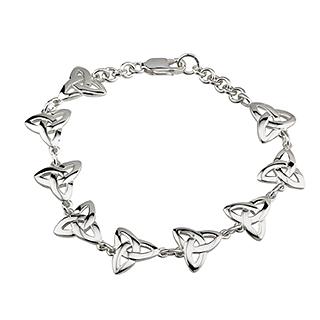 Silver Trinity Link Bracelet S5302